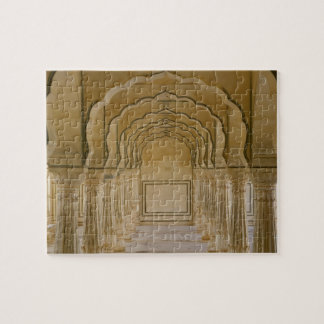 Arched walkway with columns inside Amber Palace, Jigsaw Puzzle