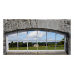 Arched Window with Rural View