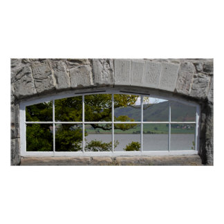 Arched Window with View of a Loch Poster