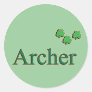 Archer Family Round Sticker