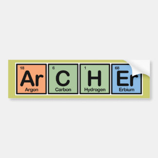 Archer made of Elements Bumper Sticker