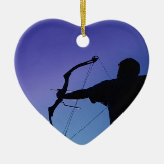 ARCHER SILHOUETTE BOW MAN CHRISTMAS ORNAMENT
