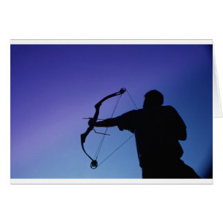 ARCHER SILHOUETTE BOW MAN GREETING CARD