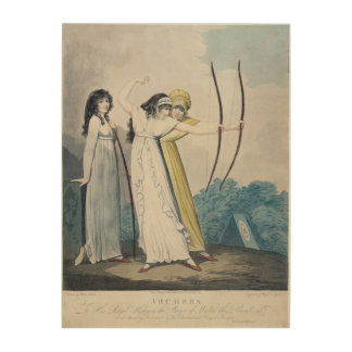 Archers, engraved by J.H. Wright (fl.1795-1838) an Wood Wall Art