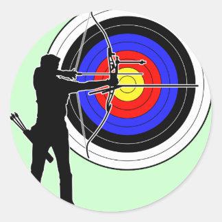 archery2 classic round sticker