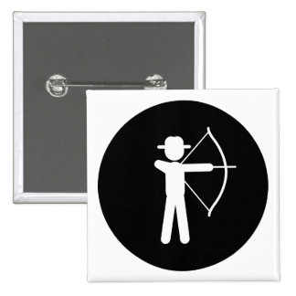 Archery 15 Cm Square Badge