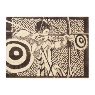 "Archery 24""x18"" Wood Wall Art Wood Canvas"