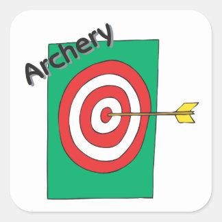 Archery 3 square sticker