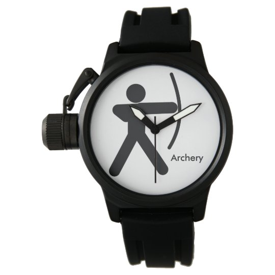 ARCHERY | Bow and man icon Wristwatch