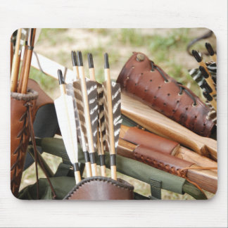 Archery Bows, Arrows and Quivers Mouse Pad