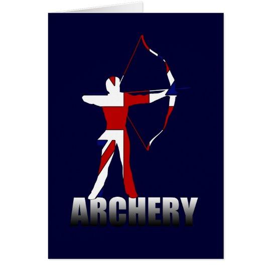 Archery British flag Archer UK GB Card