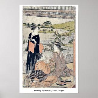 Archery by Hosoda, Eishi Ukiyoe Posters