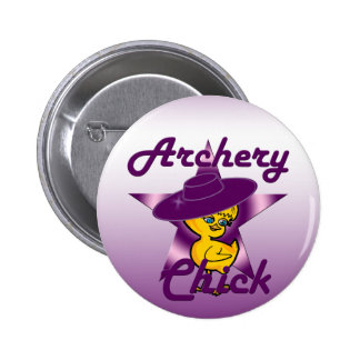 Archery Chick #9 6 Cm Round Badge