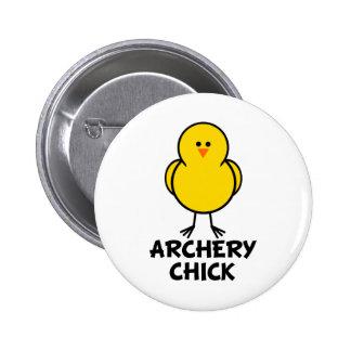Archery Chick Pinback Button