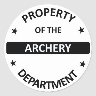 Archery Department. Classic Round Sticker