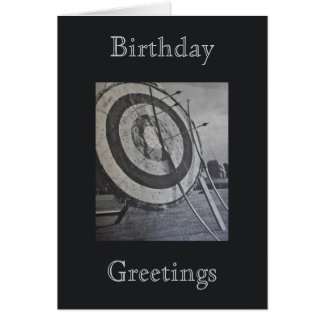 Archery Equipment Birthday Greetings Greeting Card