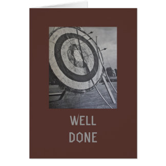 Archery Equipment Well Done Card