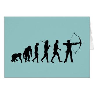 Archery Evolution of an Archery Bow and Arrow Greeting Card