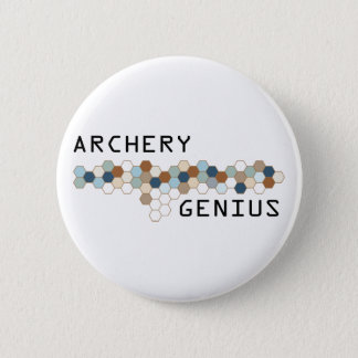 Archery Genius 6 Cm Round Badge