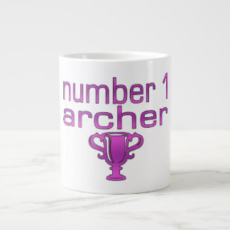 Archery Gifts for Her: Number 1 Archer 20 Oz Large Ceramic Coffee Mug