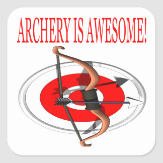 Archery Is Awesome Square Sticker