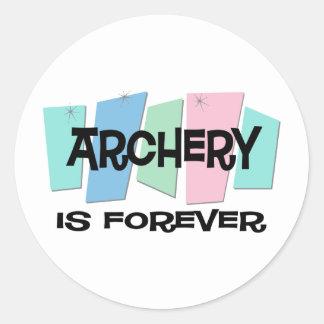 Archery Is Forever Round Sticker
