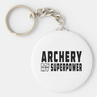 Archery is my superpower key ring