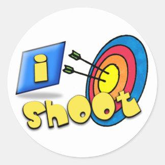 ARCHERY ~ iSHOOT - I SHOOT Round Sticker