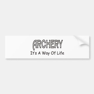 Archery It's A Way Of Life Bumper Stickers