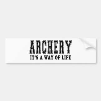 Archery It's way of life Bumper Stickers