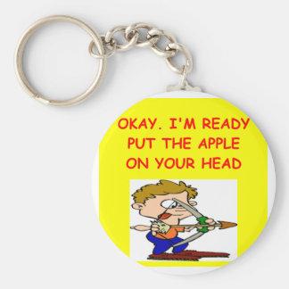 ARCHERY joke Key Ring