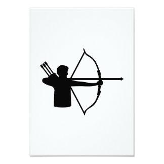 Archery player 9 cm x 13 cm invitation card