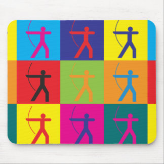 Archery Pop Art Mouse Mat