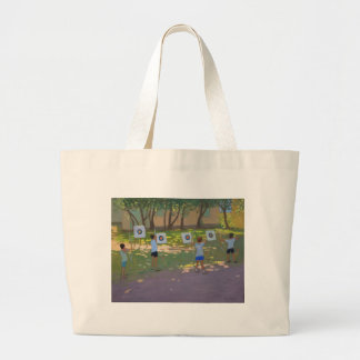 Archery practise France Large Tote Bag