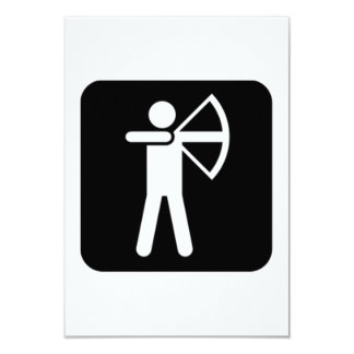 Archery Sign 9 Cm X 13 Cm Invitation Card