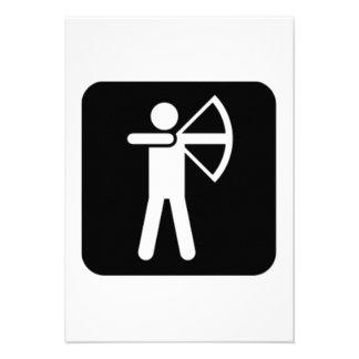 Archery Sign Personalized Invitations