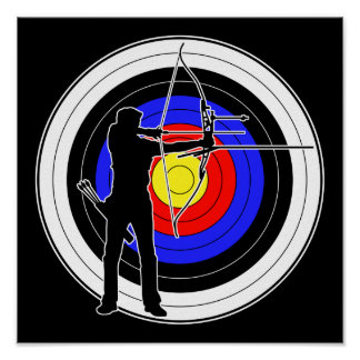 Archery & target 01 poster