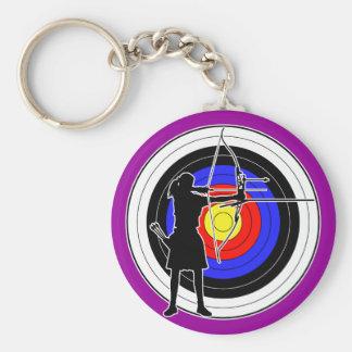 Archery & target 02 key ring