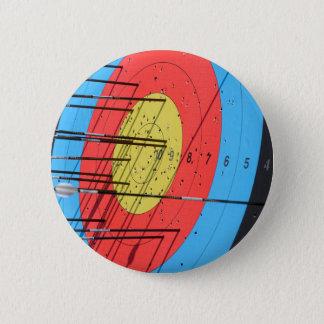 Archery target 6 cm round badge