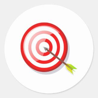 Archery Target and Arrow Classic Round Sticker