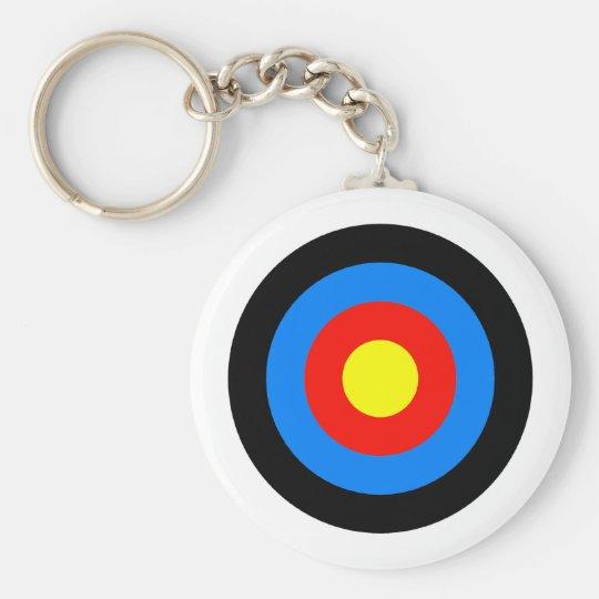Archery Target Basic Round Button Key Ring