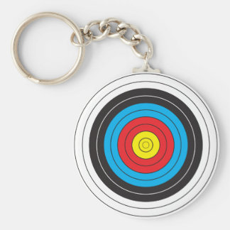 Archery Target Basic Round Button Key Ring