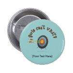 Archery Target Bullseye Button