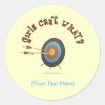 Archery Target Bullseye Round Stickers