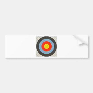 Archery Target Bumper Sticker