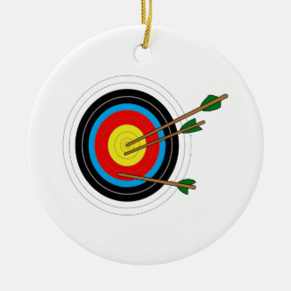 ARCHERY TARGET CHRISTMAS ORNAMENT