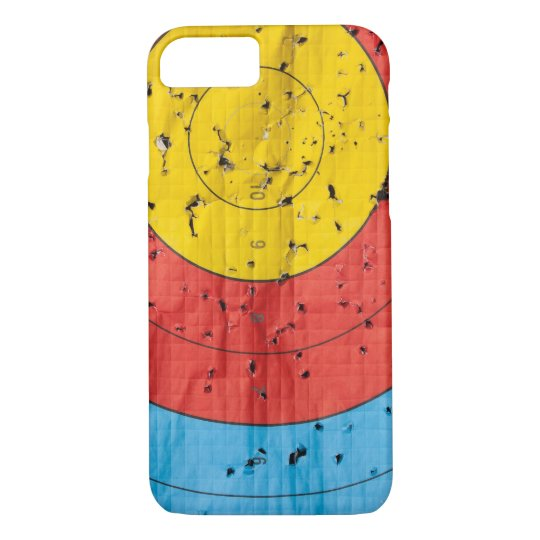 Archery target close up with many arrow holes iPhone 8/7 case
