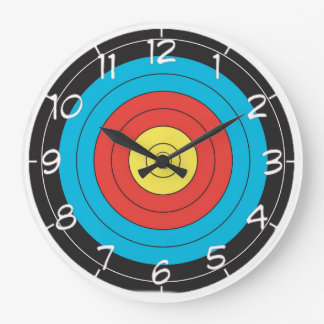 """Archery Target"" design wall clocks"
