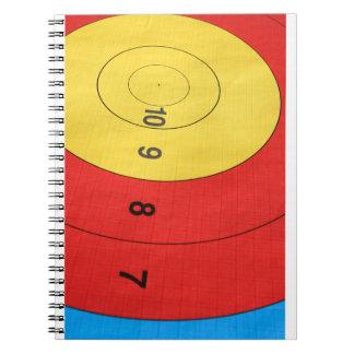 Archery target notebook