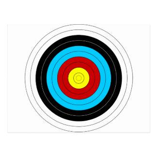 Archery Target Postcard